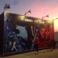 Gerüst-Sonderkonstruktion für das League of Legends Finale (Mercedes Benz Arena)