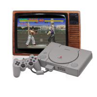 Playstation 1 mit Röhrenbildschirm
