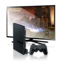 Playstation 2 mit Flachbildschirm
