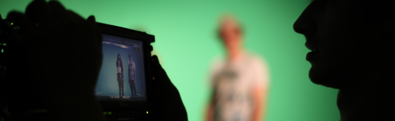 Videokamera mit Green Screen (Foto)