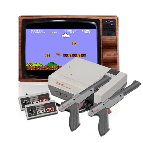Nintendo NES mit Röhrenbildschirm