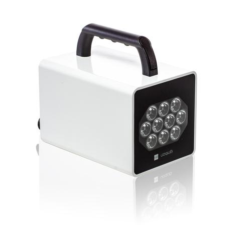 LED Scheinwerfer Akku Pico – 30 (10×3) W – RGB