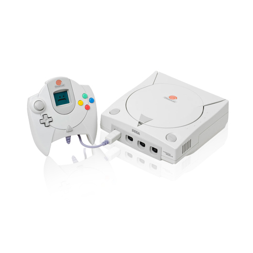 SEGA Dreamcast mit Röhrenbildschirm